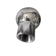 Hygienic Stainless Steel Threaded Cleaning Ball for Bright Beer Tank Washing Male Female end