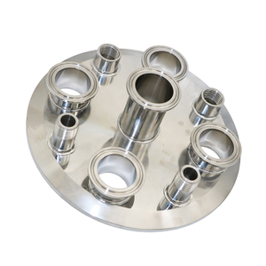 8inch Extractor Lid with Triclamp Ports And Thread Ports