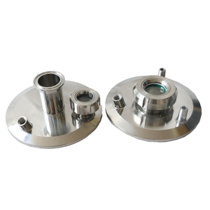 Stainless Steel Lid End Cap With Window Viewing Posrt for Collection Tank Recovery Tank