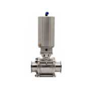 Automatically Controlled Sanitary Ball Valve With SS Actuator