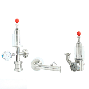Sanitary Safety Exhaust Valve with Pressure Gauge for Fermentation Tank