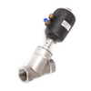 Pneumatic Stainless Steel Angle Seat Valve BSP Female NPT female
