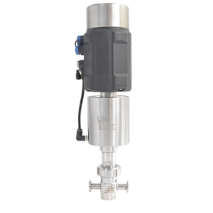 Sanitary Stainless Steel Intelligent Pneumatic Mini Flow Control Valve With Postioner