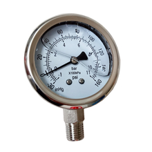 Stainless Steel Compound Vacuum Pressure Gauge -30 to 160PSI