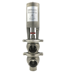 Stainless Steel Clamped Pneumatic Single Divert Seat Valve