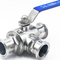 Hygienic Stainless Steel Clamped 3-Way Ball Valve
