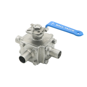 SS304 Sanitary Full Cavity Seat 3 Way High Purity Welded Ball Valve